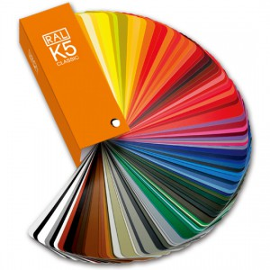 德国劳尔 CLASSIC K5 包含经典系列213个颜色的扇形色卡